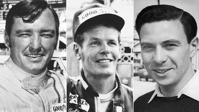 Johnny Rutherford, Bobby Unser and Jim Clark, the 1963 Indy 500 rookie class.