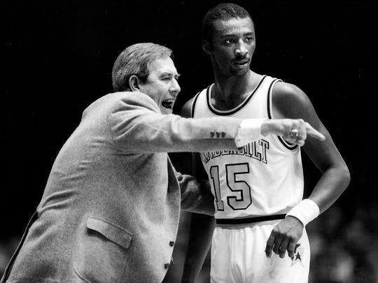 C.M. Newton (at left), SEC legend and former Vanderbilt