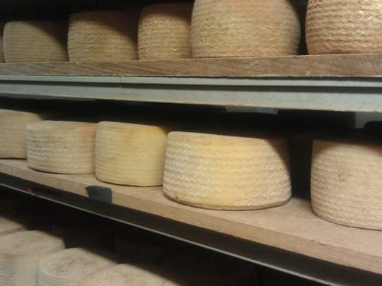 Cheeses made by students in Valley Shepherd Creamery's classes age for 90 days before they can be picked up.