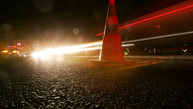 Two men were injured when their trucks collided Thursday evening in La Quinta.