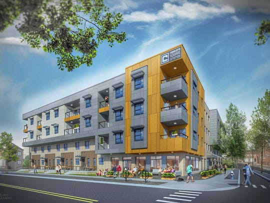Home Leasing plans to begin construction in April 2018 on a 50-unit affordable housing development on the northernmost Inner Loop lot. Officials are targeting a summer 2019 completion.
