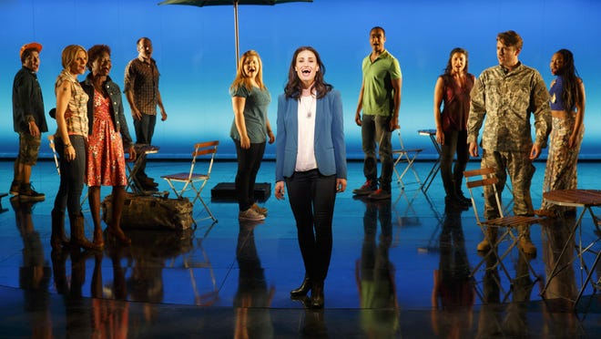 """Idina Menzel and the cast of """"If/Then."""""""