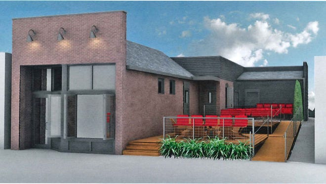 Rendering of the Juanita restaurant that chef Neal Brown had planned for Fletcher Place.