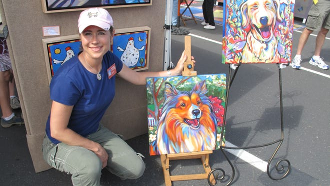 Marna Schindler, a contemporary folk artist, says her work was reproduced without permission by another artist in Rockledge.