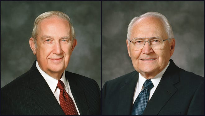 Elder Richard G. Scott of the Quorum of Twelve Apostles of The Church of Jesus Christ of Latter-day Saints is unable to attend official meetings at this time due to health issues. Elder L. Tom Perry, also of the Quorum of Twelve Apostles, has begun radiation treatments for thyroid cancer.