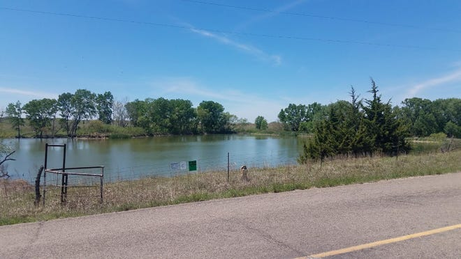 This submitted picture from the Kansas Department of Wildlife, Parks and Tourism shows the north end of a new Walk-In Fishing Area near Beloit.