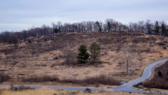 Park fir managers plan to burn an area of Little Round Top in Gettysburg National Military Park in April.