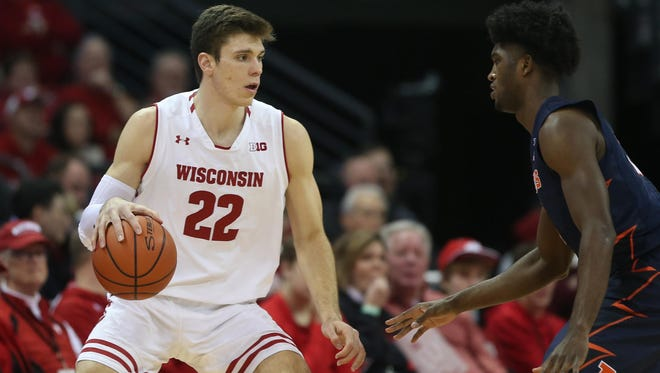 Ethan Happ has been a one-man band for Wisconsin this season, averaging 16.9 points per game for the struggling Badgers.