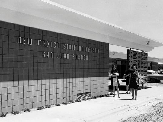 This 1968 photo shows the first building constructed at the San Juan branch of New Mexico State University, which is now San Juan College. The college will celebrate its 60th anniversary with a community open house on Thursday.