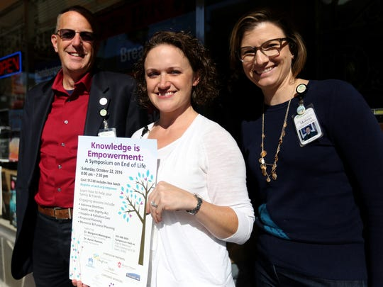 Kevin Hohnbaum, from left, Aimee Orr-Besa and Melissa