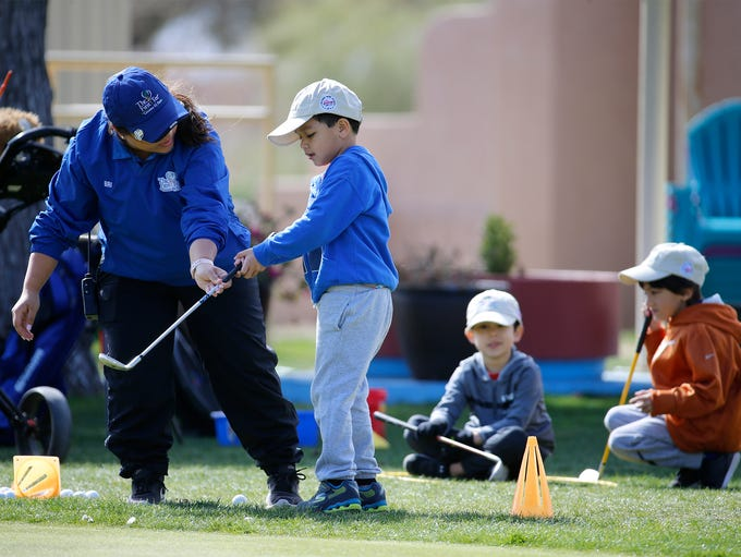 Brianna Aguilar, an instructor with The 1st Tee Greater