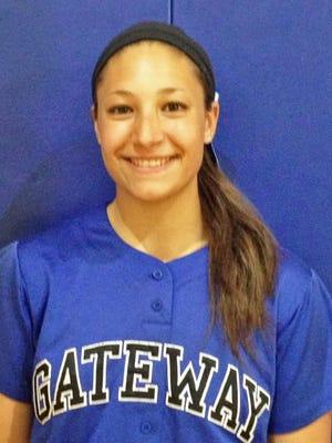 Gateway senior pitcher Kennedy Whalen