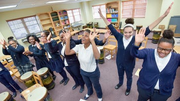 Music students at The Sisters Academy of New Jersey perform
