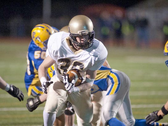 Fullback Matt Giuffreda rushed for 592 yards last year and picked up much of it in the later portion of the season. He average nearly 7.5 yards per carry for Delone Catholic. (GAMETIMEPA.COM -- FILE)