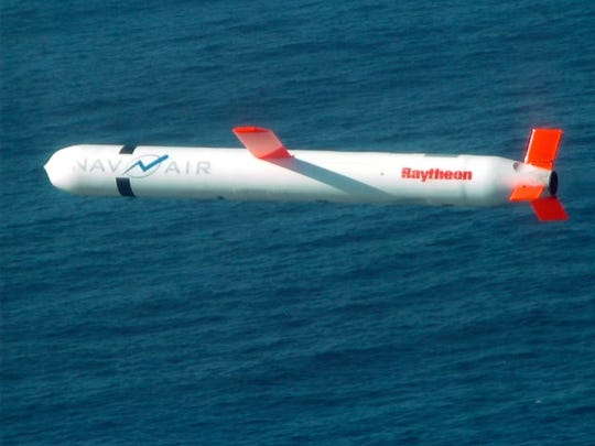 A Raytheon-made Tomahawk cruise missile.