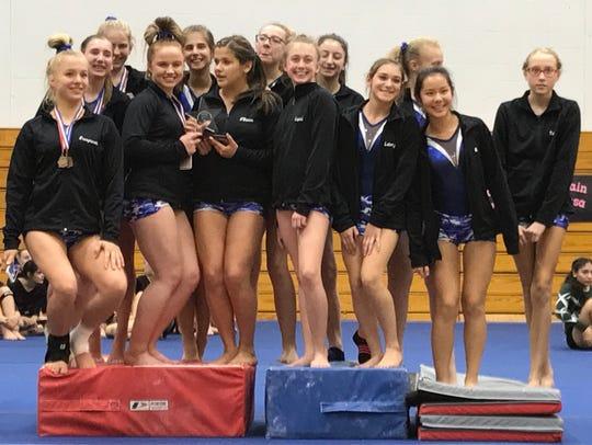The Wayne Valley gymnastics team captured the 2017