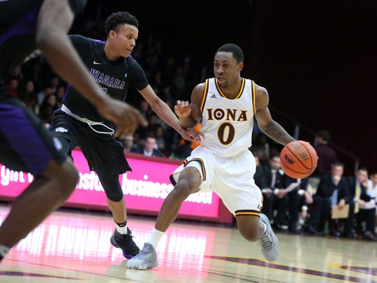 Iona's Rickey McGill of Spring Valley in action in