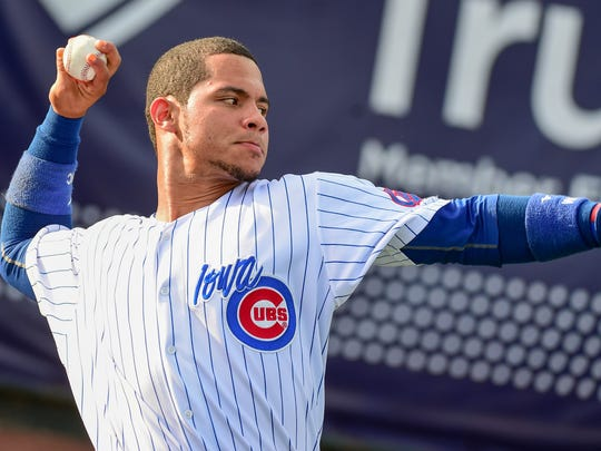 Willson Contreras during his time with the Iowa Cubs in 2016.
