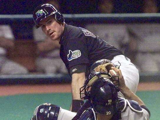 John Flaherty with the Devil Rays