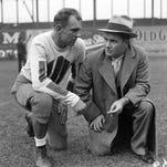 "Alabama's Paul ""Bear"" Bryant won at least a share of six national titles.  -(AP Photo/Joe Holloway Jr.)"