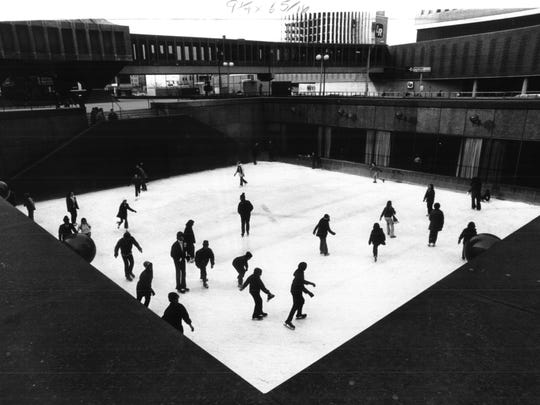 The Xerox Square Skating Rink opened in 1969 and was built 14 feet below ground.