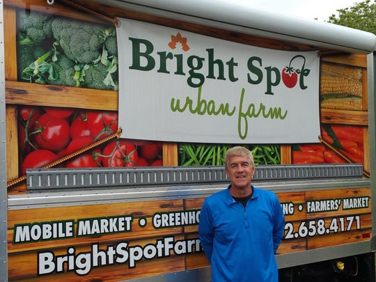Mike McCafferty, who had been a teacher at Padua Academy, had extensive experience in horticulture before he took over Bright Spot Urban Farm near New Castle.