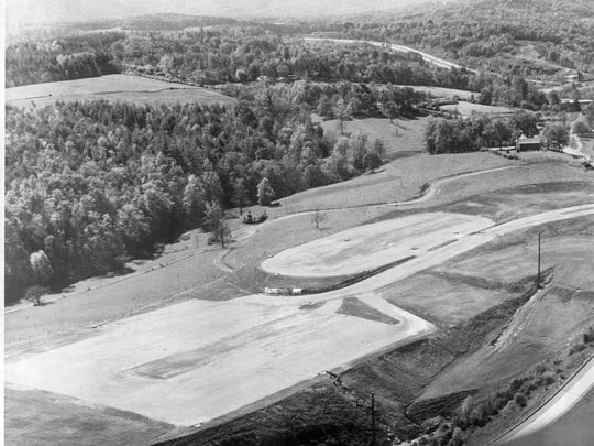 An aerial view of the WNC Farmers Market in 1977.