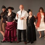The cast of the 2014 Red Light Review, left to right, included Alisa Herodes, Ellen Sievert, Dr. Pat Galvas, Lyn Galvas, Amber Colton, Sue Ferrin, Michelle Chenoweth and Carol Bronson. The Downtown Chicks revive the event May 14.