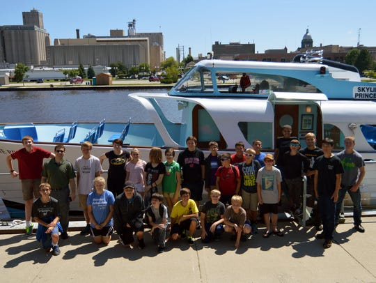 Camp participants pose with the Skyline Princess tour