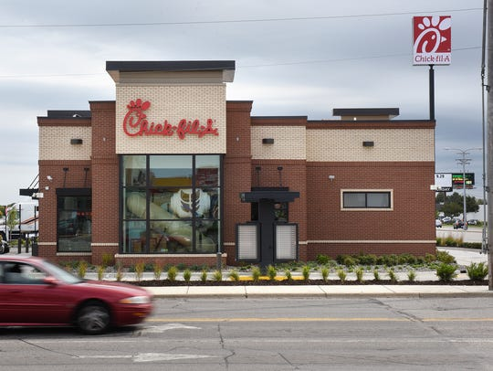 Traffic moves past the new Chik-fil-A franchise Wednesday,