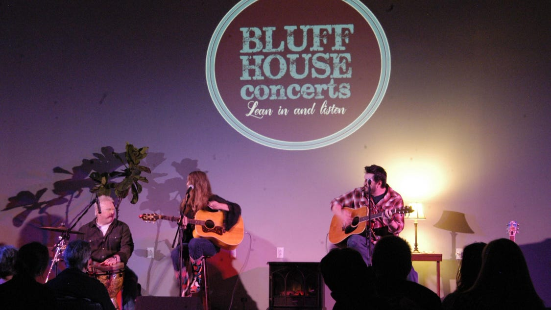 Bluff house concert series for music lovers nonprofits for House music lovers