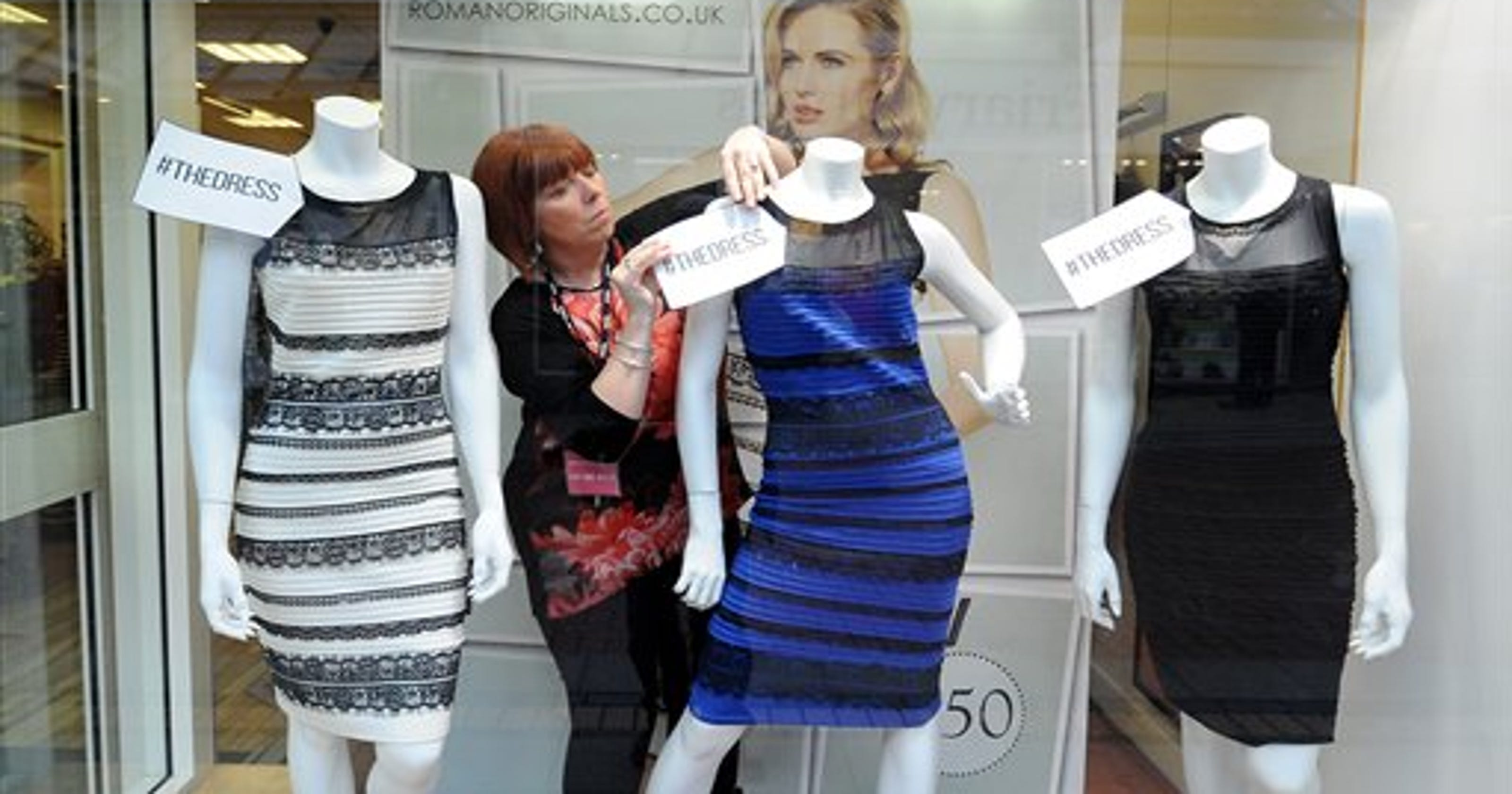 cf767d277c63 Debates rage over color of dress photographed in rare light