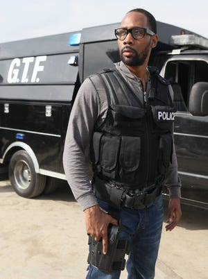 """RZA in the series premiere of the new Fox series """"Gang Related."""""""