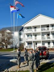 The Cape Henlopen High School JROTC raised Sussex County,