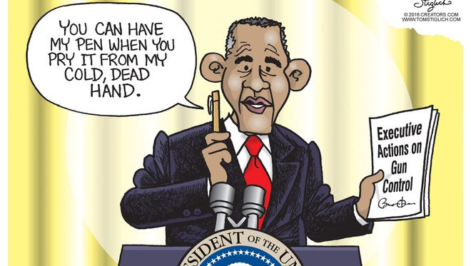 Tom Stiglich, www.TomStiglich.com, drew this Desert Sun editorial cartoon for Jan. 7, 2016.