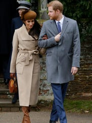 Prince Harry and his fiancée, Meghan Markle, attend