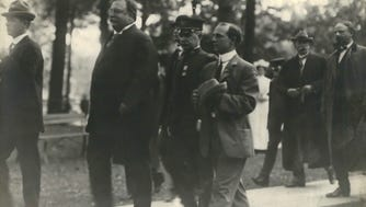 President William Howard Taft visits Milwaukee in this photo, most likely taken during his visit on Sept. 17, 1909.