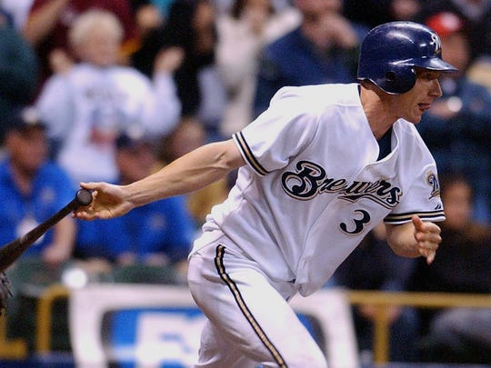 The Milwaukee Brewers Craig Counsell follows through