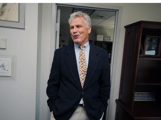 Chief Defender Brendan O'Neill in his office in Wilmington. The Office of Defense Services is supporting legislation that would eliminate the shackling of juveniles in Delaware.