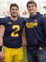Shea Patterson and younger brother Nick, who is a tight