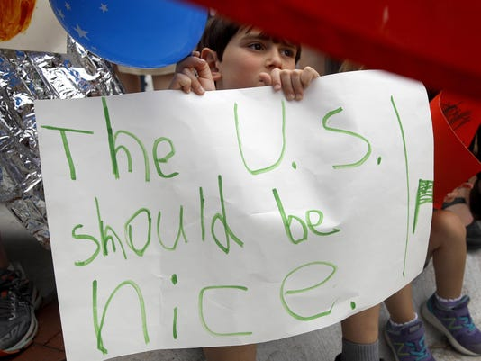 APTOPIX Immigration Rally
