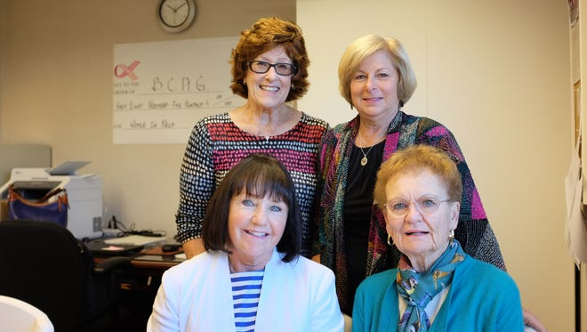 Clockwise from bottom left, Mary Surbridge, Jane Sullivan, Susan Greenbaum, and Lucy Bradford of the Breast Cancer Assistance Group, photographed in Carmel on Thursday, November 3rd, 2016