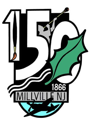 The city of Millville is using this logo to celebrate its 150th birthday this year.