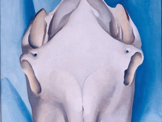 """Horse's Skull on Blue"" - Georgia O' Keeffe"