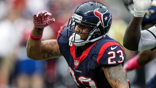 Houston Texans running back Arian Foster (23) rushes during the third quarter against the St. Louis Rams at Reliant Stadium.