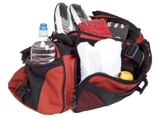 Make sure your gym bag is big enough for everything you need.
