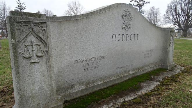 Frank Monnett, buried in Bucyrus, was the Ohio Attorney General who helped break apart the Rockefeller family's Standard Oil Trust.