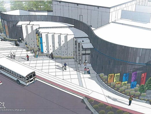 An aerial rendering of the new S.C. Children's Theatre.