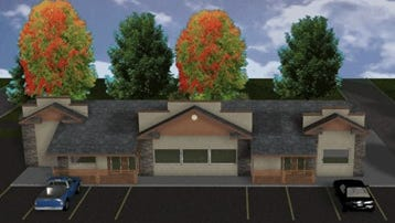 A rendering of potential renovations to the exterior of the former Kwik Trip at 1500 Grand Ave., as proposed by Kevin Malovrh, owner of Advantage Insurance Services.