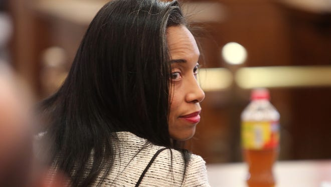 Judge Tracie Hunter at her criminal trial/ The Enquirer/Leigh Taylor